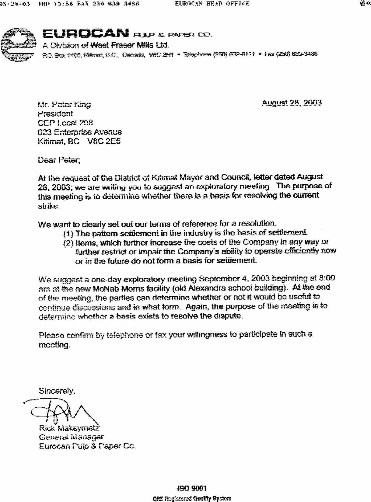Cep local 298 the district of kitimat on thursday august 28 2003 sent us this letter we have been asked to take part in an exploratory discussions stopboris Image collections